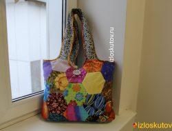 "Лоскутная сумка ""Стиляги"" № 1041"