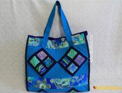 "Лоскутная сумка ""Нептун"" № 1042"