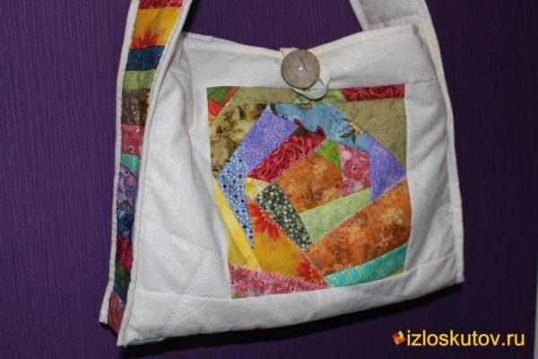 """Лоскутная сумка """"Мармеладка"""" № 1043.1"""
