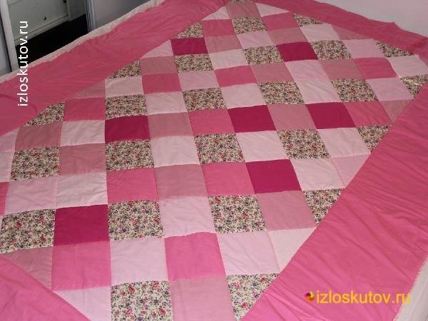 """Лоскутное одеяло """"Пастель"""" № 1044"""