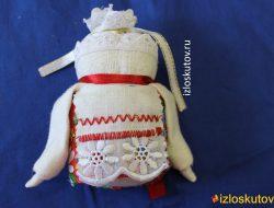 """Народная куколка """"Крупеничка"""" с красным № 1085"""