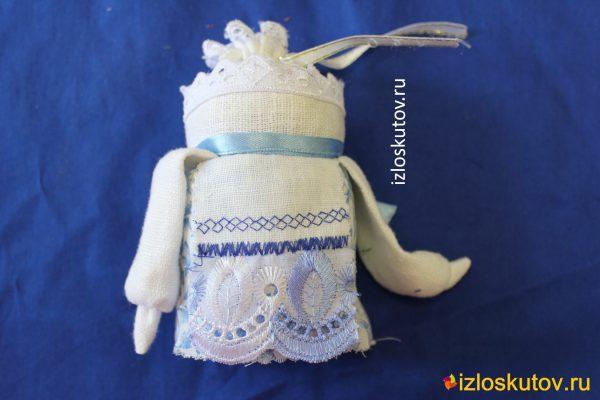 """Народная куколка """"Крупеничка"""" с голубым № 1087"""