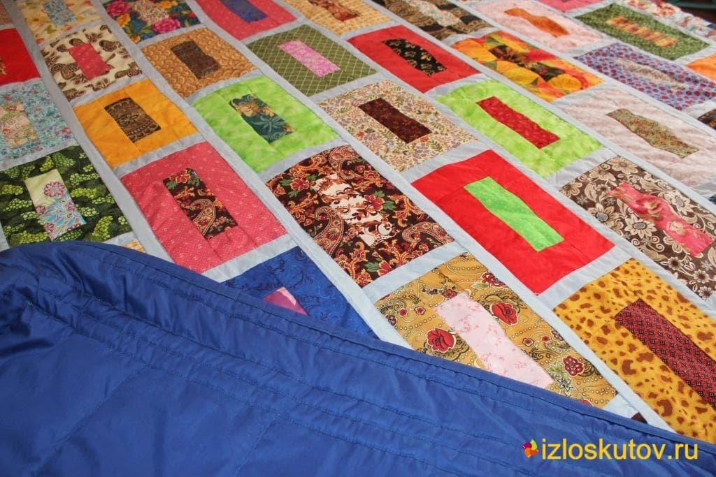 """Лоскутное одеяло """"Яркие кирпичи"""" № 408"""