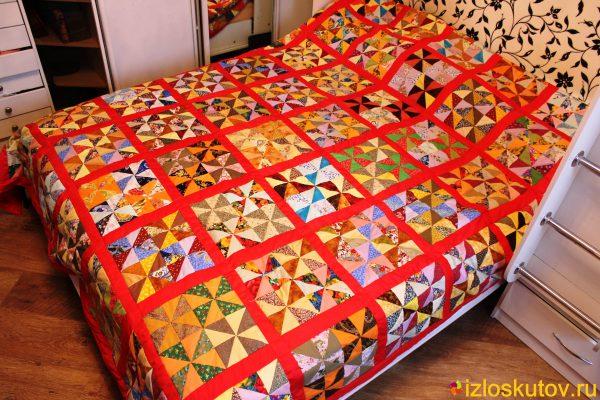 """Лоскутное одеяло """"Оклахома"""" № 442"""