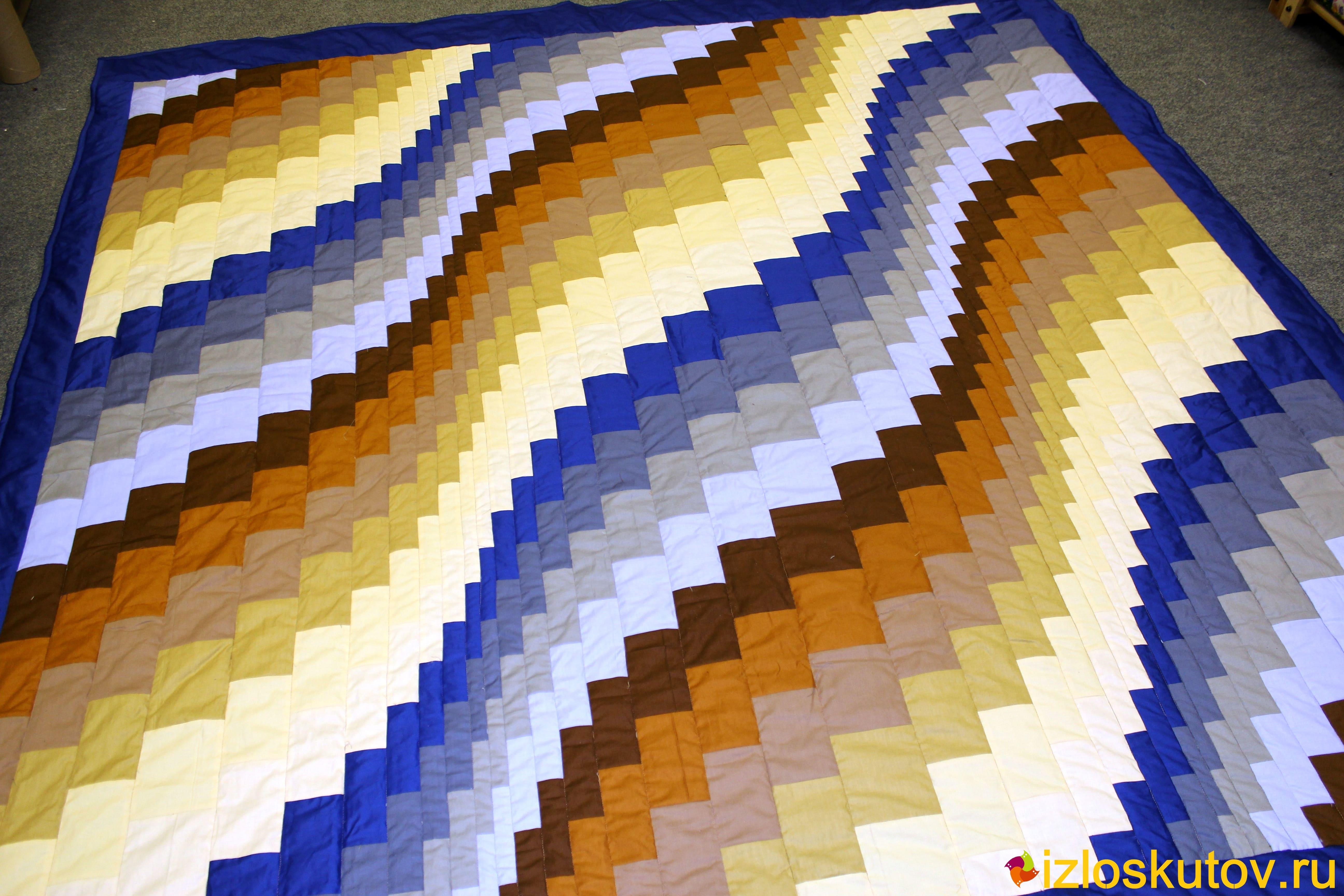 """Лоскутное одеяло """"Морской песок"""" № 481"""