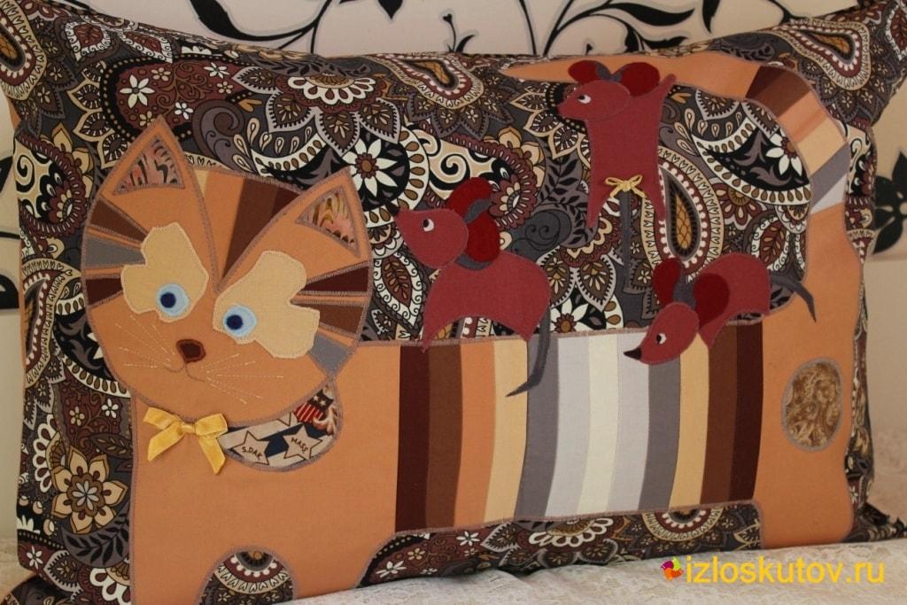 Лоскутные подушки и наволочки