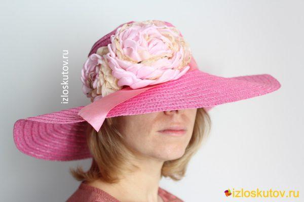 "Шляпа ""Розовый пион"" № 1214"