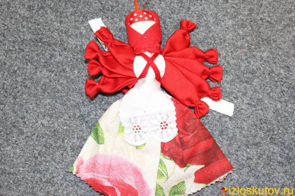 "Кукла ""Десятиручка розовый цветок"" № 1492"