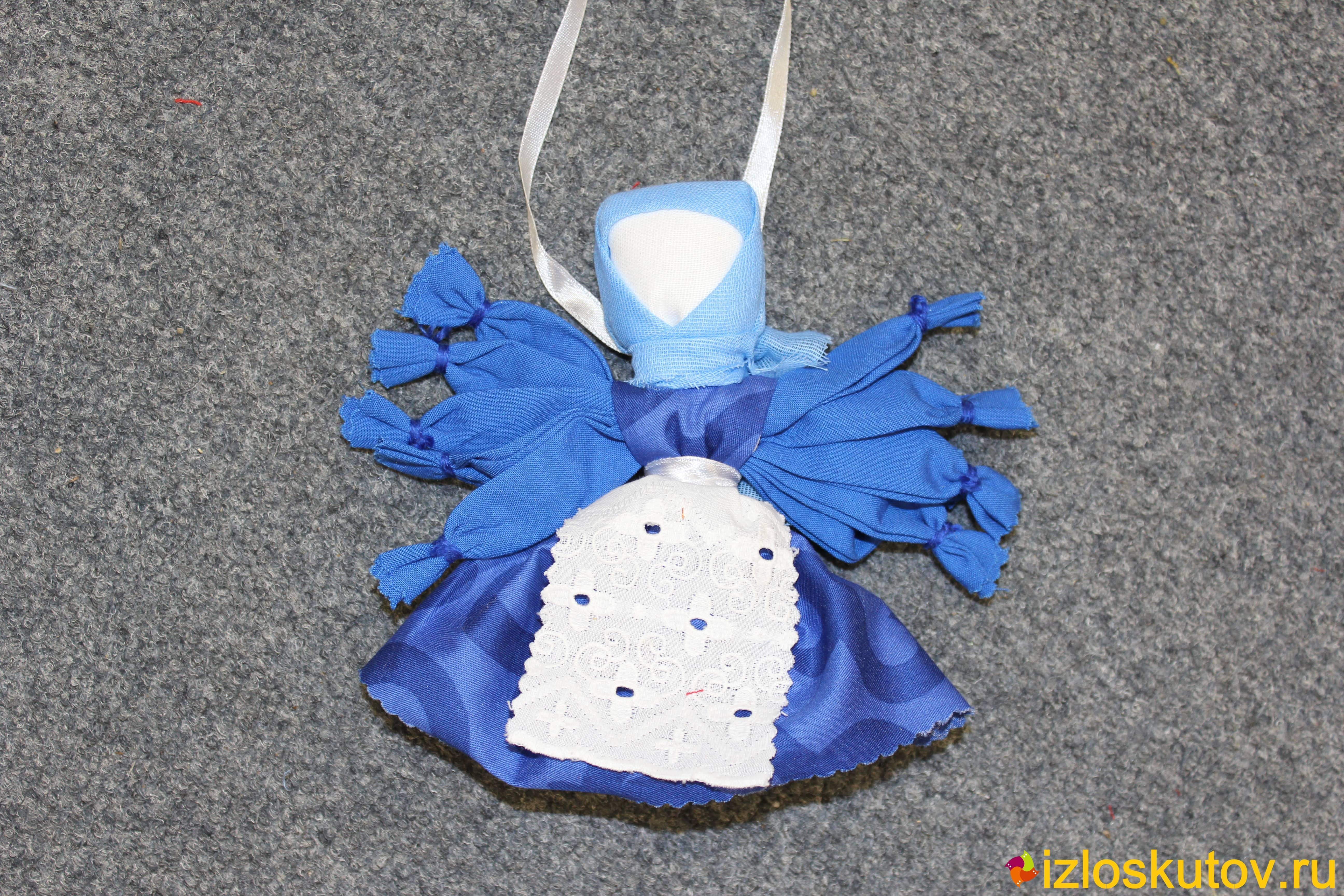 """Кукла """"Десятиручка темно-синяя"""" № 1495"""