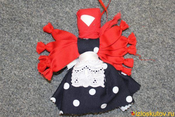 """Кукла """"Десятиручка юбка в горошек"""" № 1496"""