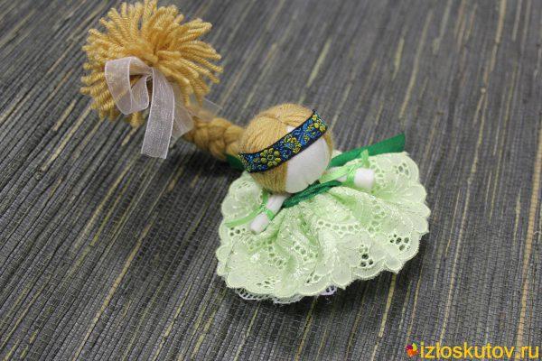 """Кукла """"Счастье в зеленом"""" № 1498"""