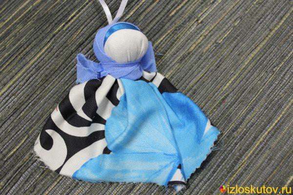 """Кукла """"Утешительница в черно-голубом"""" № 1503"""