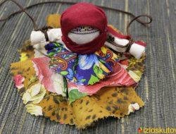 """Кукла """"Колокольчик сине-бежевый"""" № 1505"""