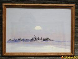 """Картина маслом """"Зимний полдень"""" № 190"""