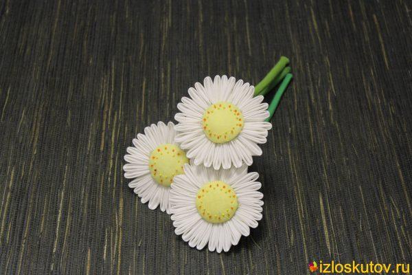 """Лоскутные цветы """"Ромашки"""" № 254"""