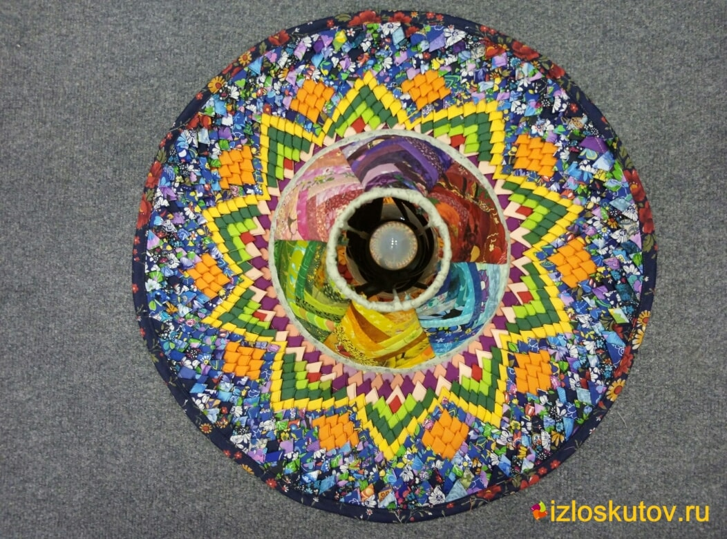 """Лоскутный абажур """"Радужный ночник"""" № 612"""