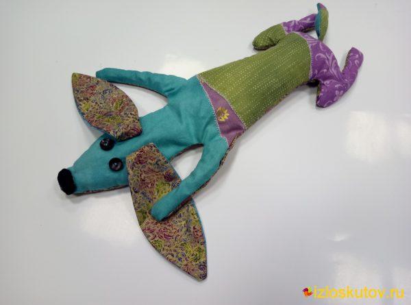 """Лоскутная игрушка """"Такса"""" № 575"""